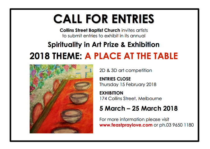 Call for entries 2018 CSBC exhibition